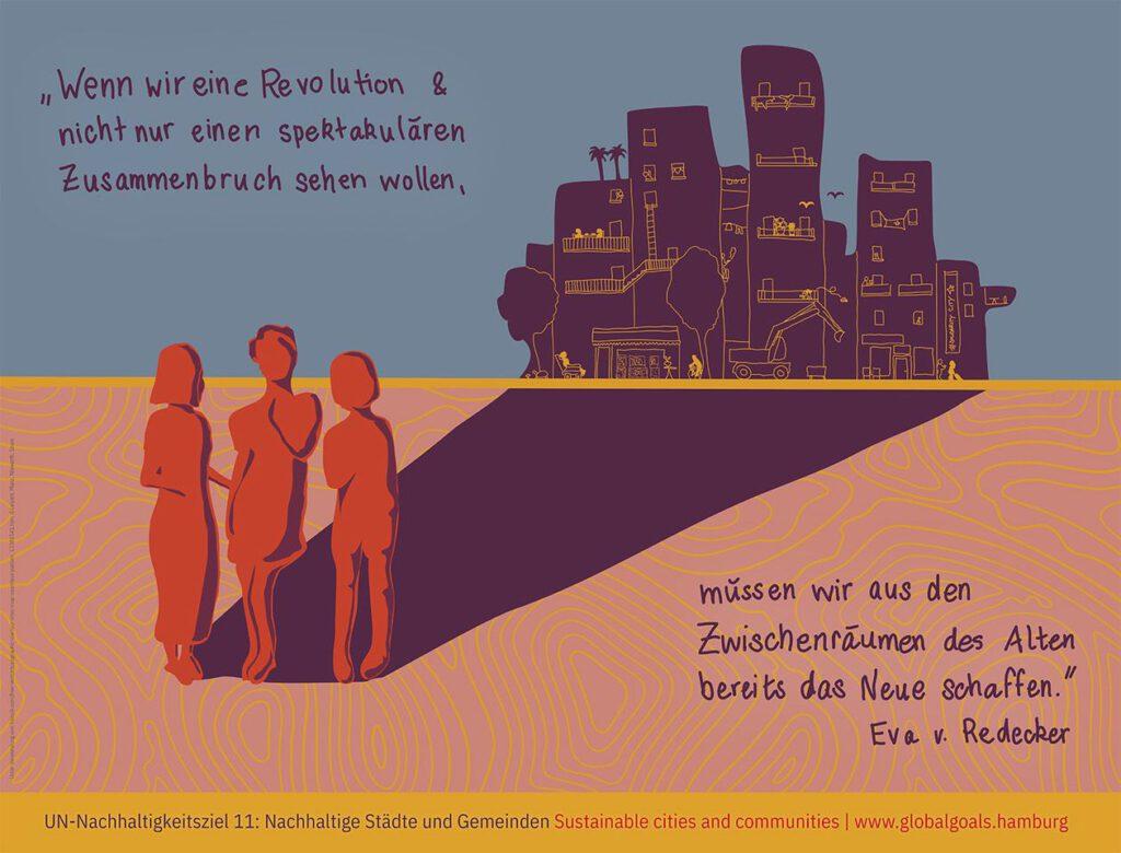 Wandbild SDG 11 - Nachhaltige Städte und Gemeinden